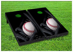 VINYL WRAPS Cornhole Boards DECALS Baseball Glove Bag Toss Game Stickers 122