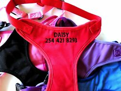 Personalized Embroidered Dog Harnesses GO GO CUTE PUPPY $12.99