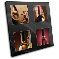 Wine Bottles Food Kitchen CANVAS WALL ART Picture Print VA $69.99