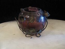 antique glass vase $350.00