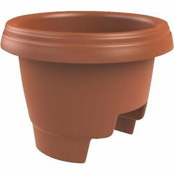 (10 PK) PLASTIC Deck Rail Planter 12