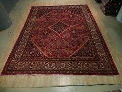 Red-Beige Area Rug Decorative Design Hand Knotted 10x13 Persian Quality Sarouk