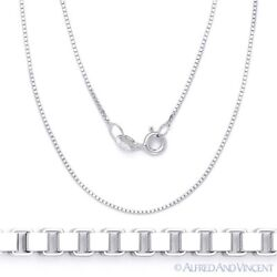 0.7mm Classic Box Link Italian Chain Necklace in Solid 925 Italy Sterling Silver