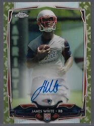 2014 Topps Chrome Mini Camouflage Refractor James White On Card Auto Rc # to 99 $24.95