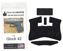 Tractiongrips precut textured rubber grip tape for Glock 42 Traction Grips $11.50