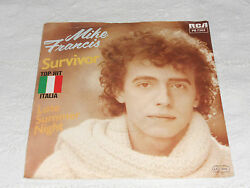 MIKE FRANCIS SURVIVOR  LATE SUMMER NIGHT ITALO-DISCO GERMANY PS 7
