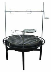 Rancher Fire Pit Charcoal Grill With Rotisserie 31 Inches Free Shipping New