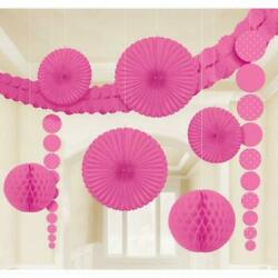 Bright Pink amp; Dots Paper Room Decorating Kit GBP 13.49
