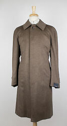 New. PAL ZILERI Brown Cashmere-Mink Blend Full Length Coat Size 5040 R $2195