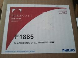 Philips Forecast F1885 Mason Pillow Glass Hanging Lampshade Opal White 4quot; Sq. $22.50