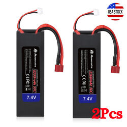 2PACK 5200mAh 50C 7.4V LiPo RC Battery 2S Deans Hardcase for RC Car Truck Boat $31.99