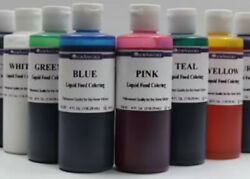 LorAnn Liquid Food Coloring 4 Ounce Bottle Choose From 12 Different Colors  $7.99