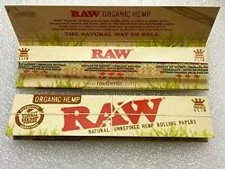 2 Packs Raw Classic King Size Slim Natural Organic x64 Rolling Papers $5.99