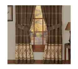 BROWNING BUCKMARK - Set of (2) Rod Pocket Curtain Drapes -Window Treatment Cabin