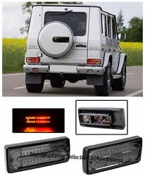 For 02-Up MB G-Class W463 Rear Bumper Conversion LED Smoke Lens Tail Light Lamps