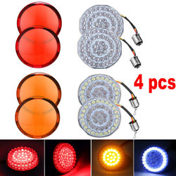 1157 LED Turn Signals Light Inserts Smoke Lens Fit for Harley Amber $21.99