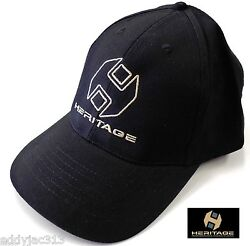 Heritage Gloves Logo Sports Cap Black Adjustable Adult Size New Free Shipping $12.90