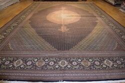 Genuine Handmade Rug 13' x 20' Persian Original Wool & Silk Tabriz MAHI