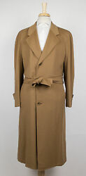 New D'AVENZA Brown Cashmere Full Length Coat Size 6050 R $4995