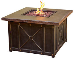 Cambridge - Gas Fire Pit - Brown