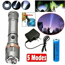 Rechargeable 990000LM LED Flashlight Tactical Super Bright TorchBatteryCharger $10.98
