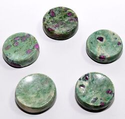36mm Green Ruby Fuchsite w Kyanite Stand Polished Crystal Stone Mineral - India