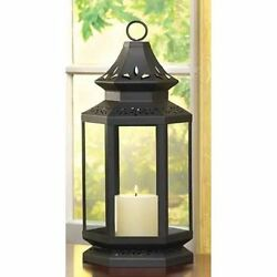 20 LARGE  BLACK STAGECOACH CANDLE  LANTERN WEDDING CENTERPIECES DECOR~13363