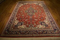 Finest Hand Knotted Rug 7x10 High End Silk ORIGINAL PERSIAN QUM RUG 600 KPSI