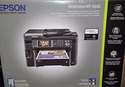 NEW Epson WorkForce WF-3640 Wireless Color All-in-One Inkjet Printer $279.50