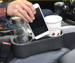Black Seat slit Water beverage holder 2 cup holder + Ashtray Fit for all Auto