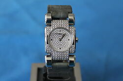 RAREST & AMAZING MAUBOUSSIN 321 STAINLESS STEEL WITH DIAMONDS LADIES WATCH