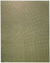 Hand Knotted Modern 11x14 Silk&Wool Thick Rug