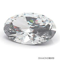1.02 Carat DSI2Ex Cut Oval Shape AGI Earth Mined Diamond 7.96x5.69x3.56mm