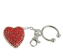 Simply Radiant Crystal Embellished Heart Key Ring
