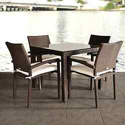 5-Piece Outdoor Heavy Duty High Quality Dining Set Chairs Table Pool Deck Patio