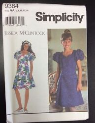 Simplicity #9384 Girls#x27; Plus Dresses Size 7 8 10 12 14 $6.00
