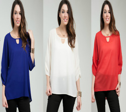 T25 New Womens Fashion Summer Office Chic Hi Low Plus Size Work Tops Blouse $12.22