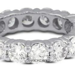 5.13 CTW. GSI3Ex Cut Round Earth Mined Diamonds 14k Classic Wedding Ring 5.9gr