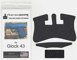 Tractiongrips textured rubber grip tape overlay for Glock 43 Traction Grips $11.50