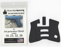 Tractiongrips rubber grip tape overlay for Generation 3 Glock 19 23 32 38 $11.50