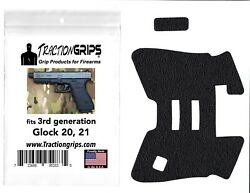 Tractiongrips rubber grip tape overlay for Generation 3 Glock 20 21 pistols $11.50