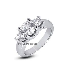 2.01 CT GSI2Ex Round Earth Mined Diamonds 18KW Classic Anniversary Ring 11.4gr