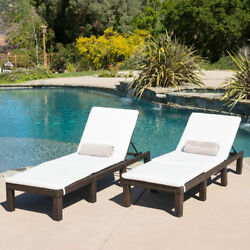 Outdoor Chaise Lounge Chairs Patio Set Of 2 Furniture Pool Chair Lounger Deck