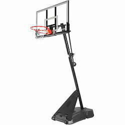 Spalding Hercules Angled 54quot; Acrylic Backboard System Steel Portable System Hoop $560.83