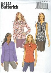 Butterick 6133 Misses' Blouse    Sewing Pattern