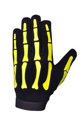 HiVis High Visibility Halloween Yellow Skeleton Mechanics Gloves GBP 12.00