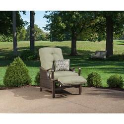 Hanover Ventura Luxury Recliner Patio Chair with Pillow Conversation Chair Sets