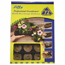 (2 PACK)  JIFFY PROFESSIONAL GREENHOUSE REFILL PEAT PODS - 72 PEAT PELLETS