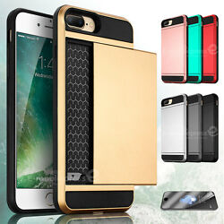 Shockproof Wallet Credit Card Holder Case Cover for Apple iPhone 7 iPhone8 Plus