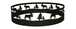 CobraCo Fireplace Moose Steel Fire Pit Ring Outdoor